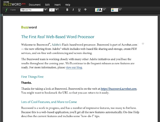 Adobe Buzzword