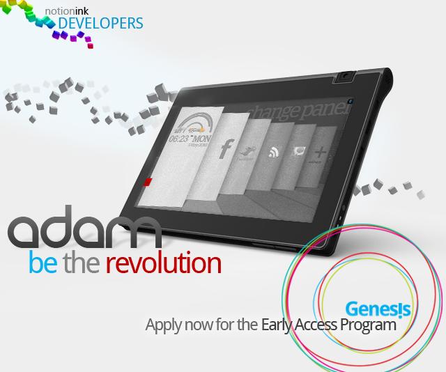 Tablet Adam de Notion Ink, rumores con muchas expectativas de triunfo 2
